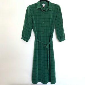 DownEast Basics Window Pane Print Dress